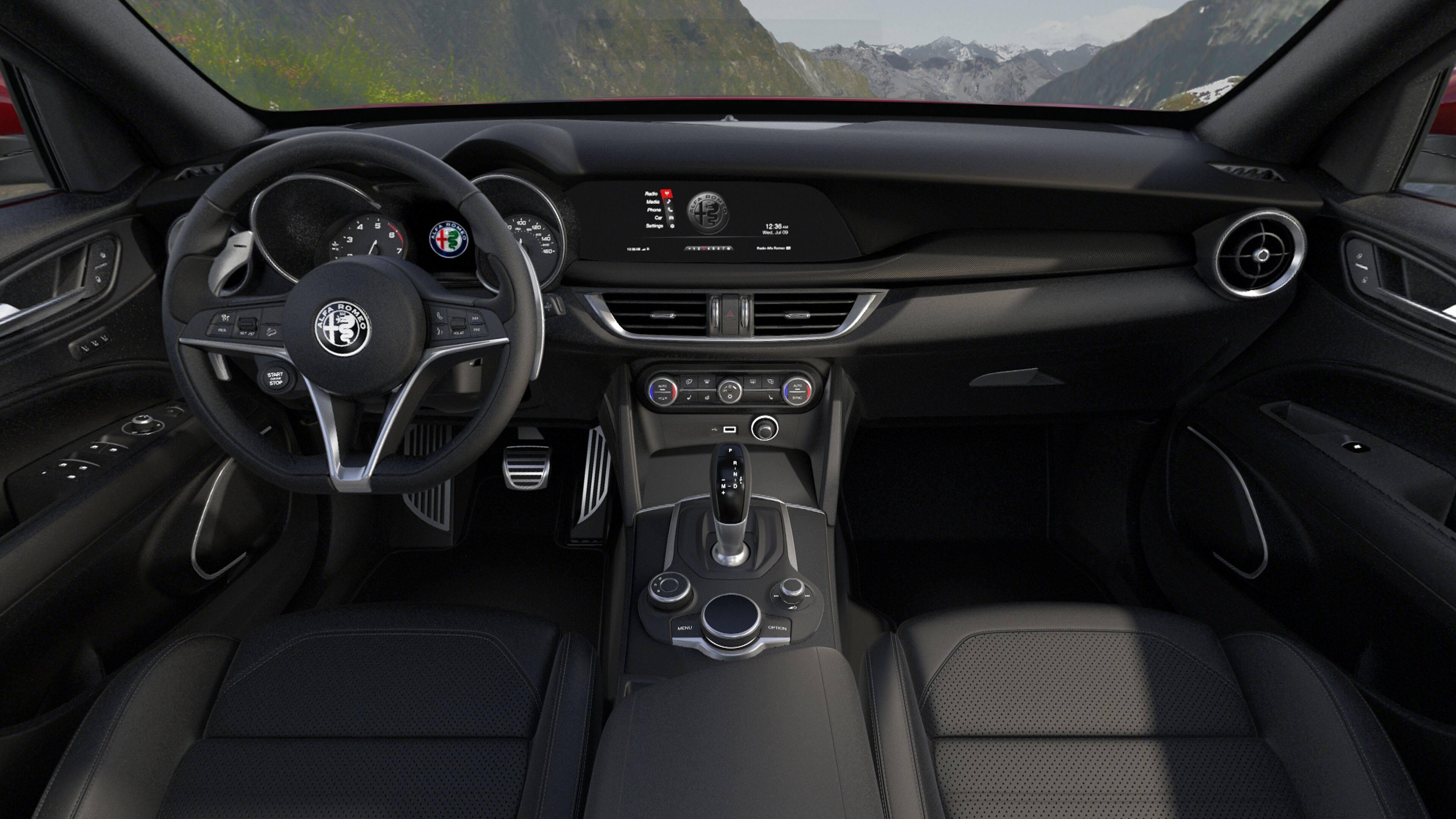 2019 Alfa Romeo Stelvio Ti Sport Black Interior