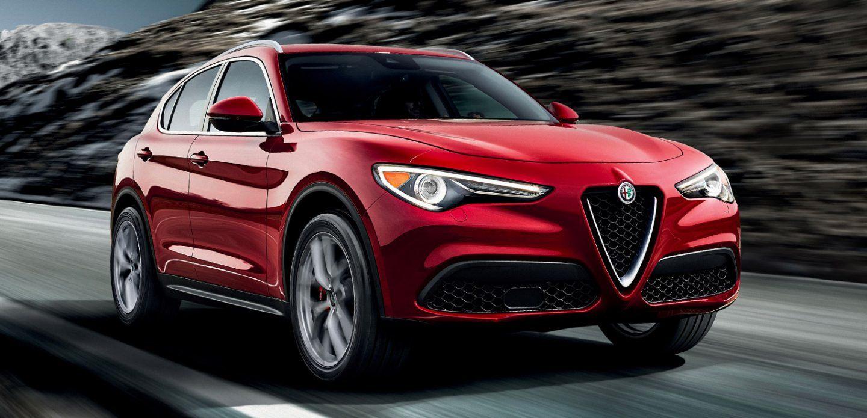 2019 Alfa Romeo Stelvio AWD Red Exterior Front View