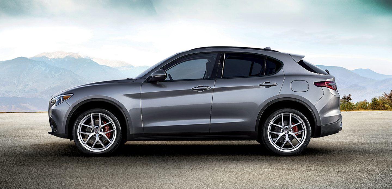2019 Alfa Romeo Stelvio AWD Side Gray Exterior