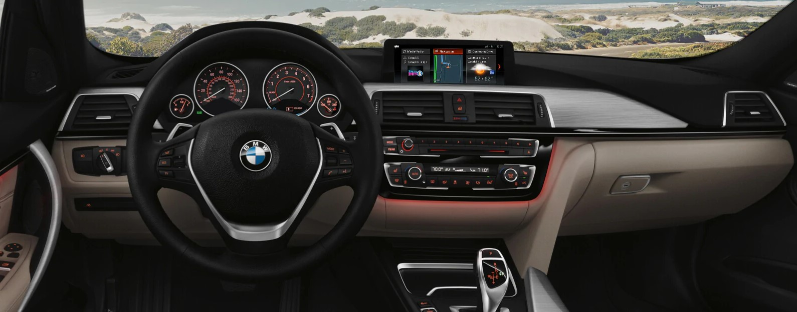 2019 BMW 3 Series Black and Tan Interior