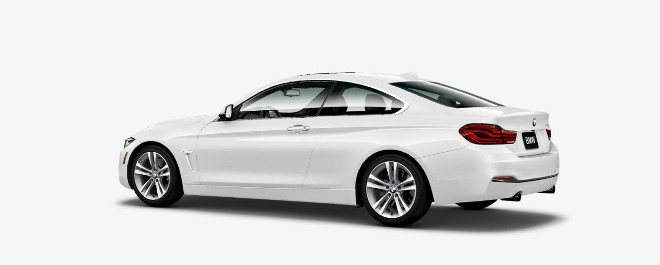 2019 BMW 4 Series 440i Rear White Exterior