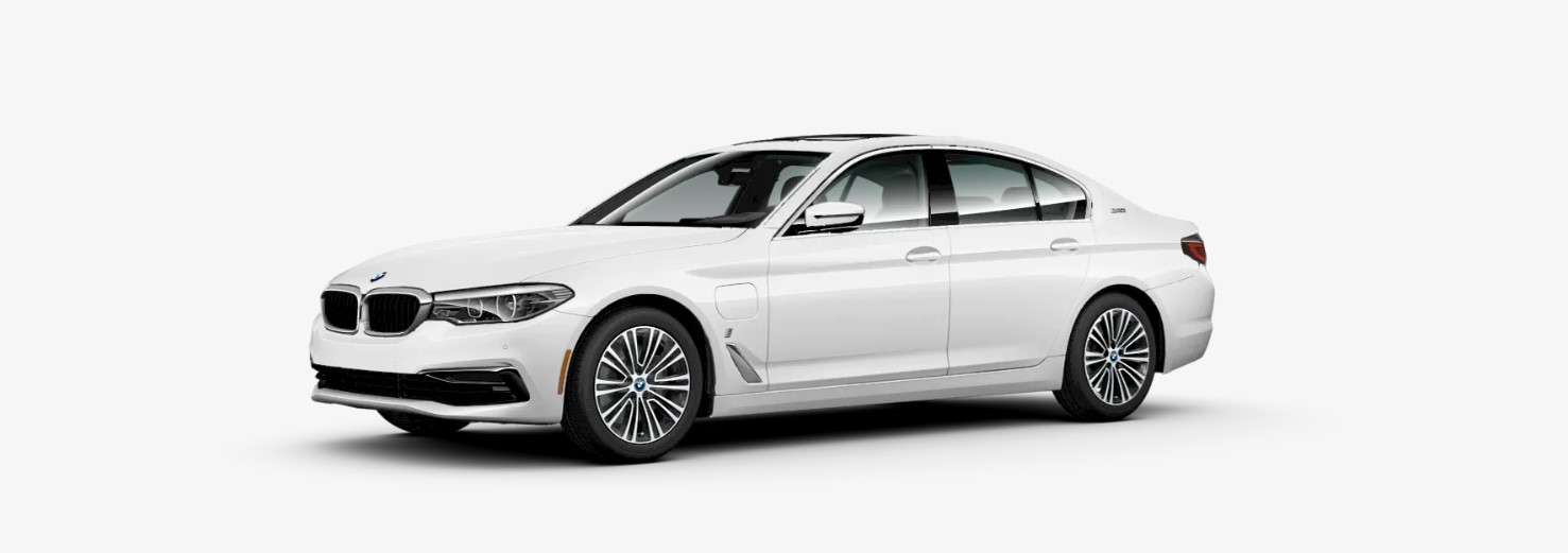 2019 BMW 530e iPerformance White Front Exterior