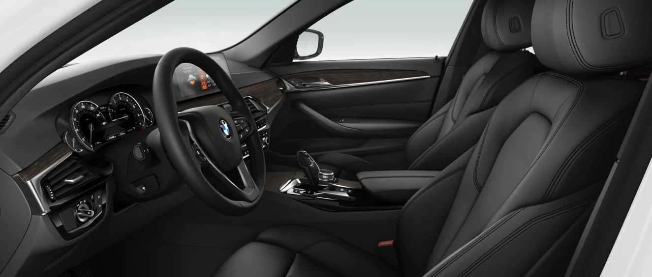2019 BMW 530i Black Interior