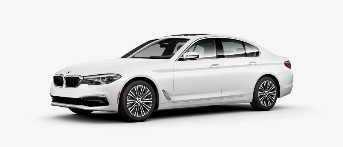2019 BMW 530i Front White Exterior