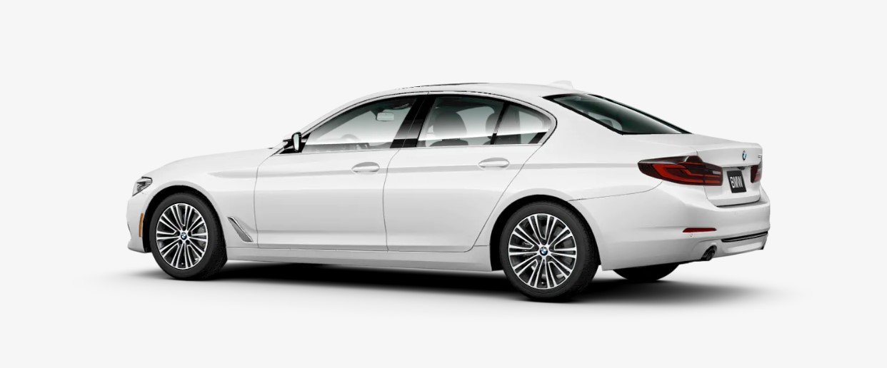 2019 BMW 530i Rear White Exterior