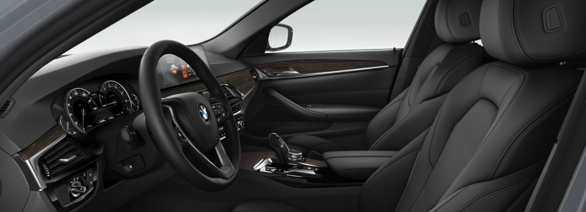2019 BMW 540i Black Leather Interior