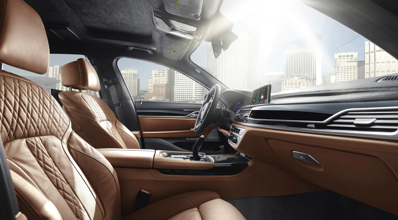 2019 BMW 740i Brown Interior