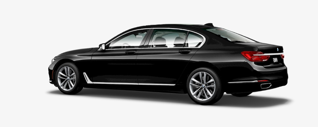 2019 BMW 750i Black Side Exterior