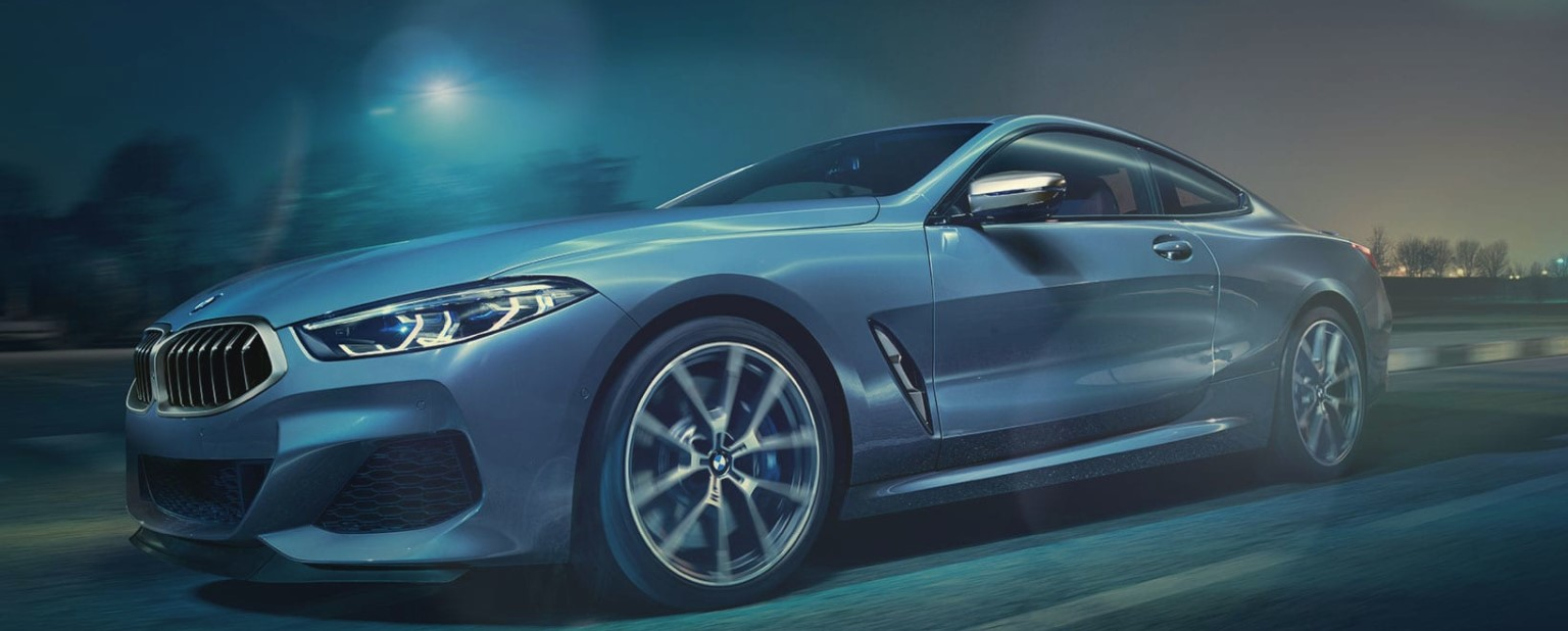 2019 BMW 8 Series Coupe Blue Front Exterior