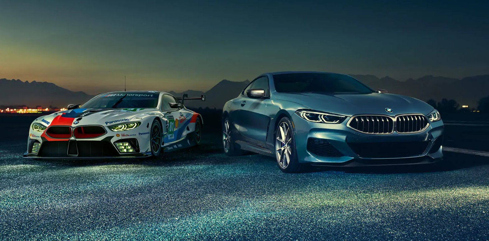 2018 BMW 8 Series Front Blue Exterior