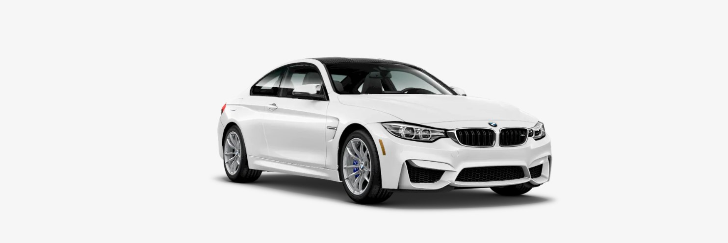 2019 BMW M4 Coupe Front White Exterior