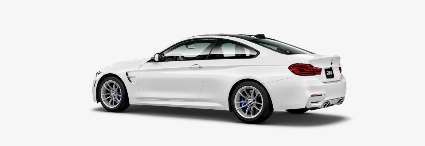 2019 BMW M4 Coupe Rear White Exterior
