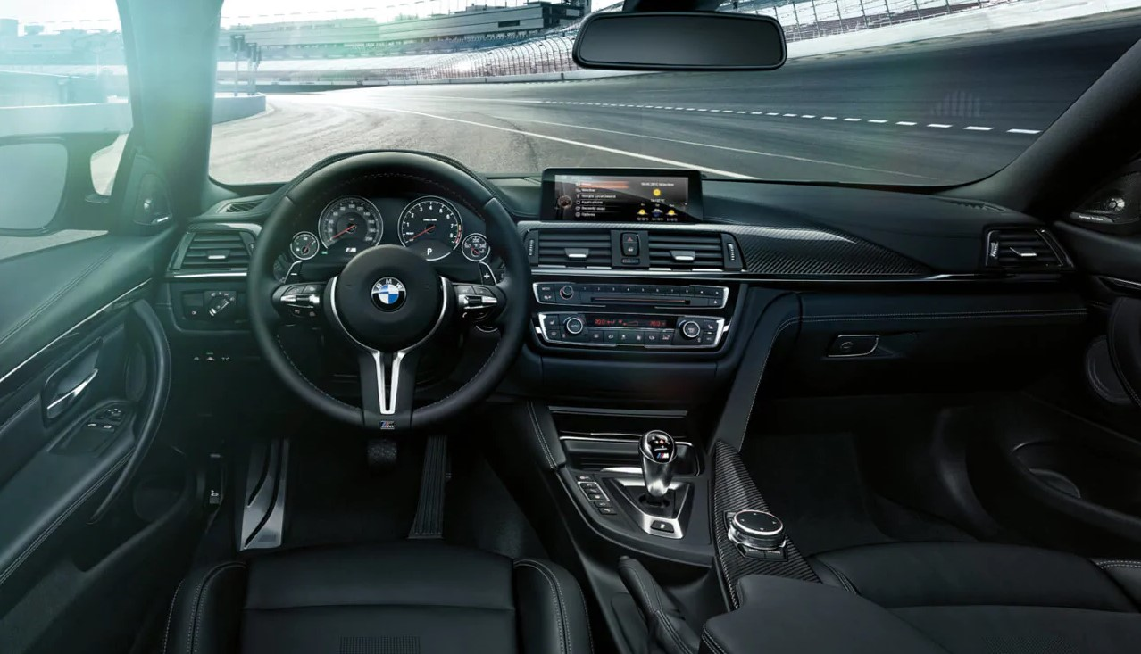 2019 BMW M4 Black and Red Interior