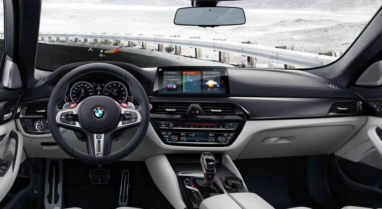 2019 BMW M5 Black and Silver Interior