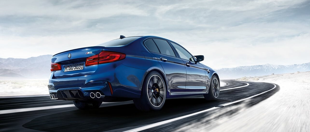 2019 BMW M5 Blue Rear Exterior