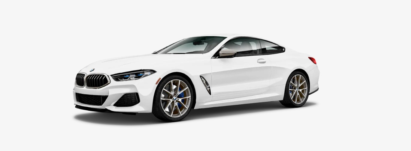 2019 BMW M850i xDrive Front White Exterior