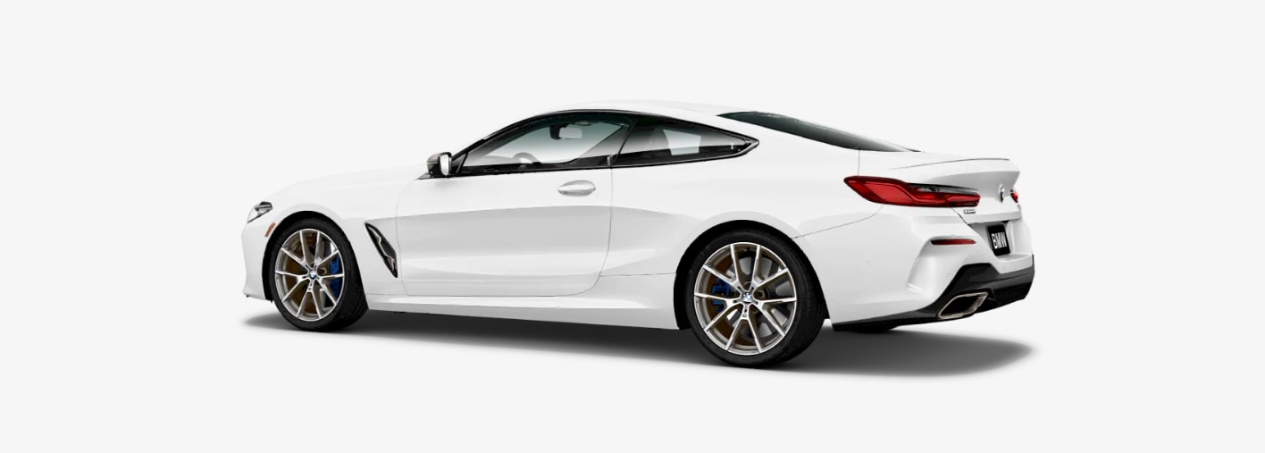 2019 BMW M850i xDrive Rear White Exterior