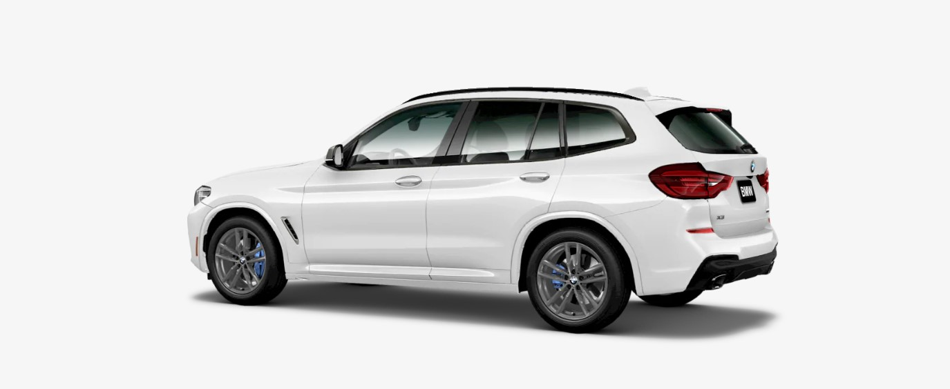 2019 BMW X3 M40i Rear White Exterior