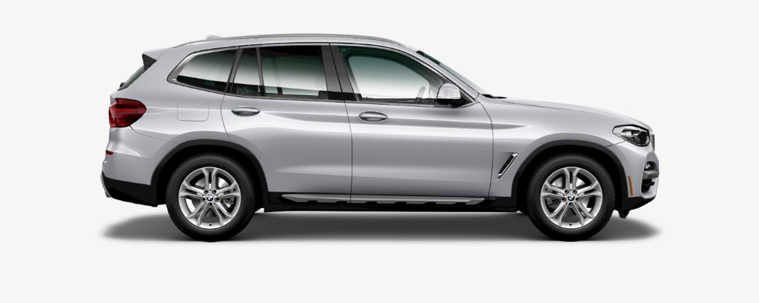 2019 BMW X3 sDrive 30i Side White Exterior