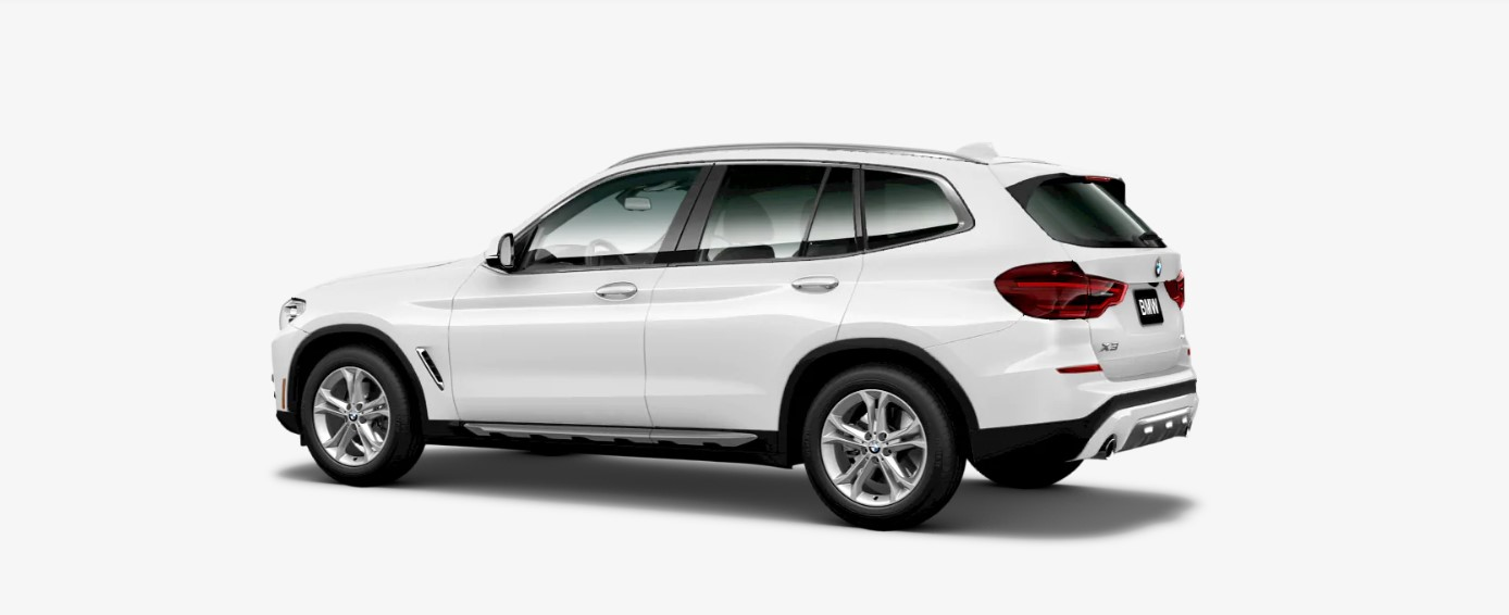2019 BMW X3 xDrive30i Rear White Exterior