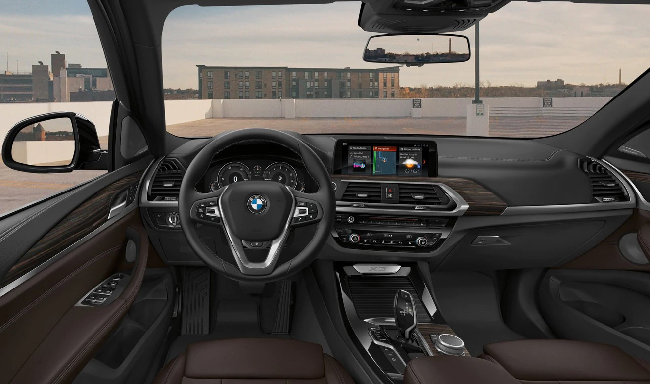 2019 BMW X3 Black and Brown Interior