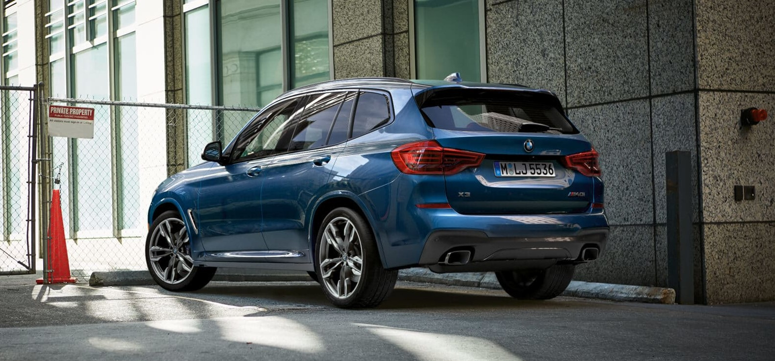 2019 BMW X3 Rear Blue Exterior