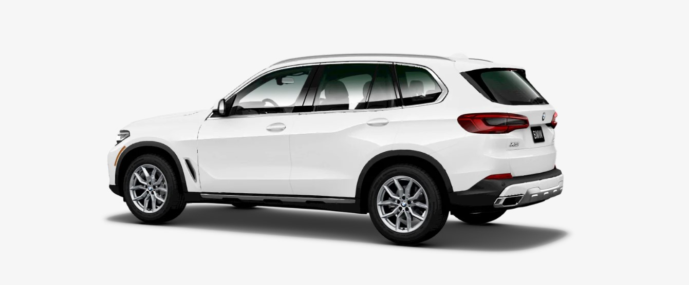 2019 BMW X5 xDrive40i Rear White Exterior