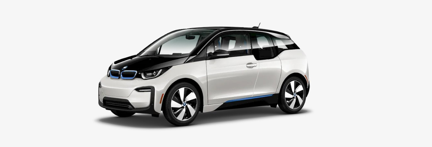 2019 BMW i3 with Range Extender Front White Exterior