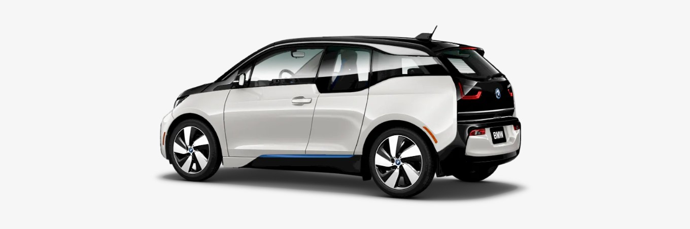 2019 BMW i3 with Range Extender Rear White Exterior