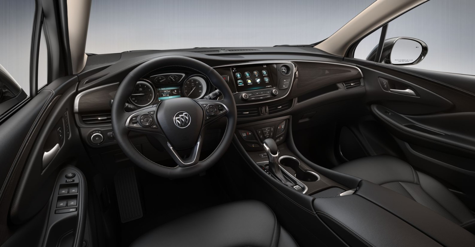 2019 Buick Envision Essence Black Interior