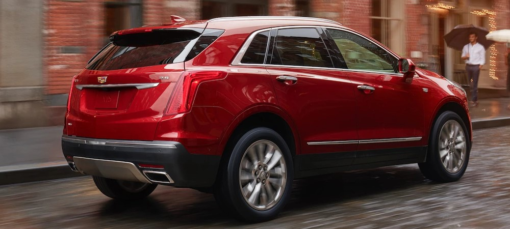 2019 Cadillac XT5 Red Exterior Rear View Picture