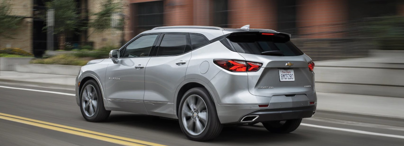 2019 Chevrolet Blazer Rear White Exterior