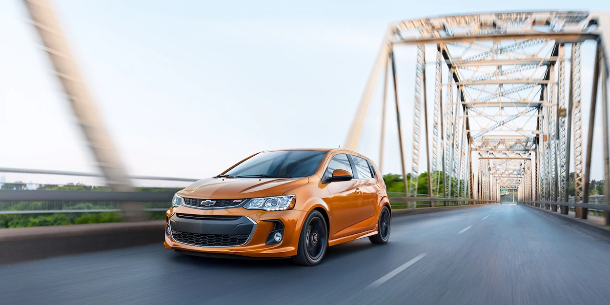 2019 Chevrolet Sonic Orange Exterior Front View Picture
