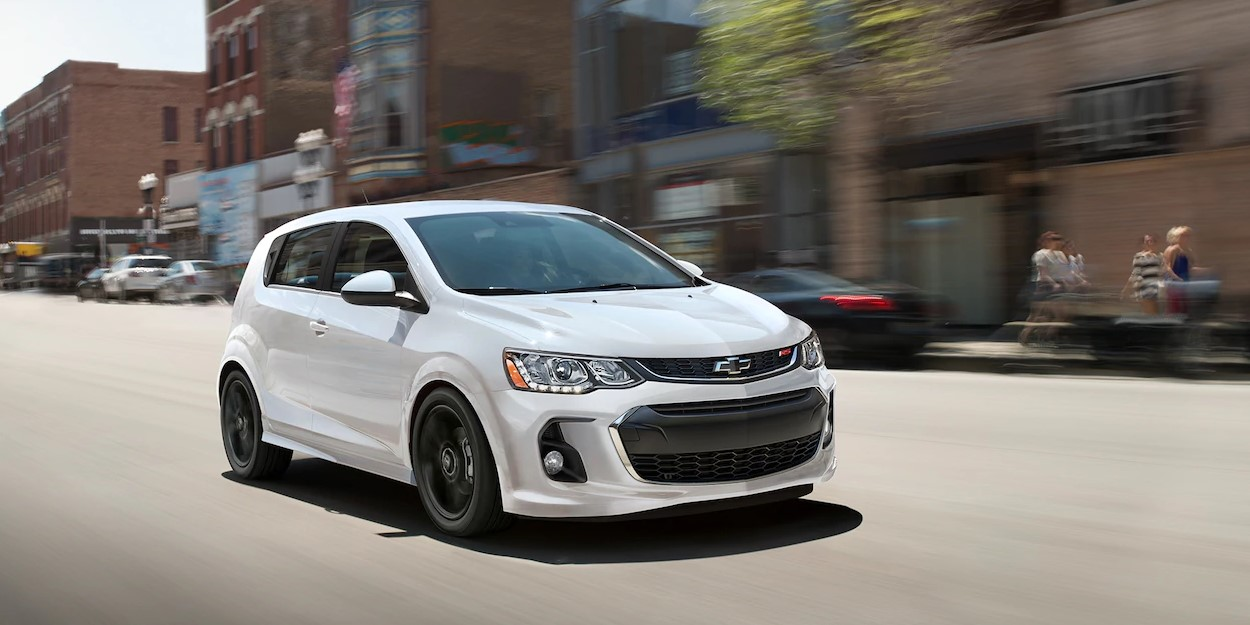 2019 Chevrolet Sonic White Exterior Front View