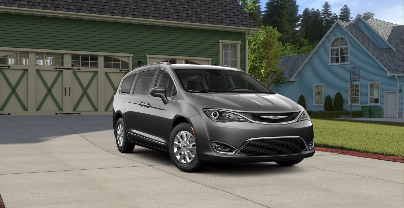 2019 Chrysler Pacifica Touring L Plus Grey Exterior Front Picture