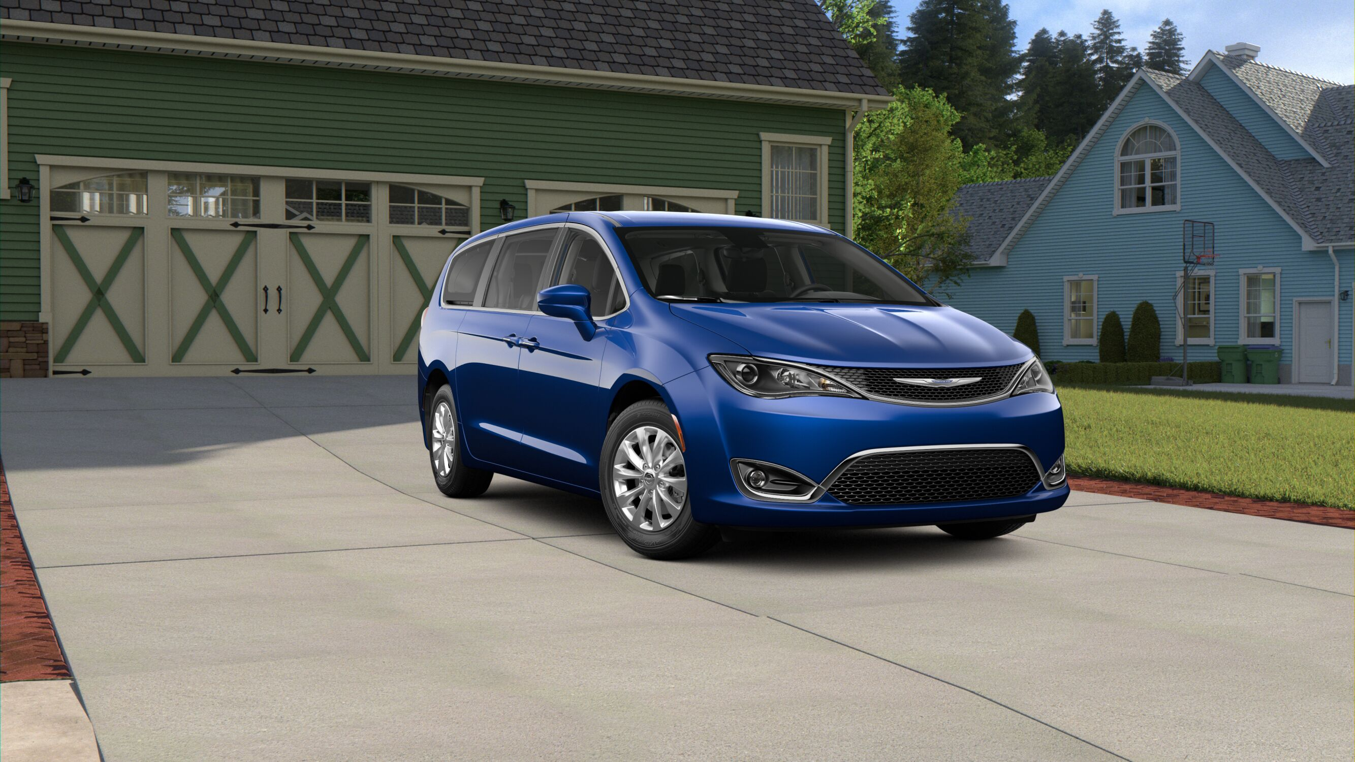 2019 Chrysler Pacifica Touring Plus Ocean Blue Exterior Front Picture