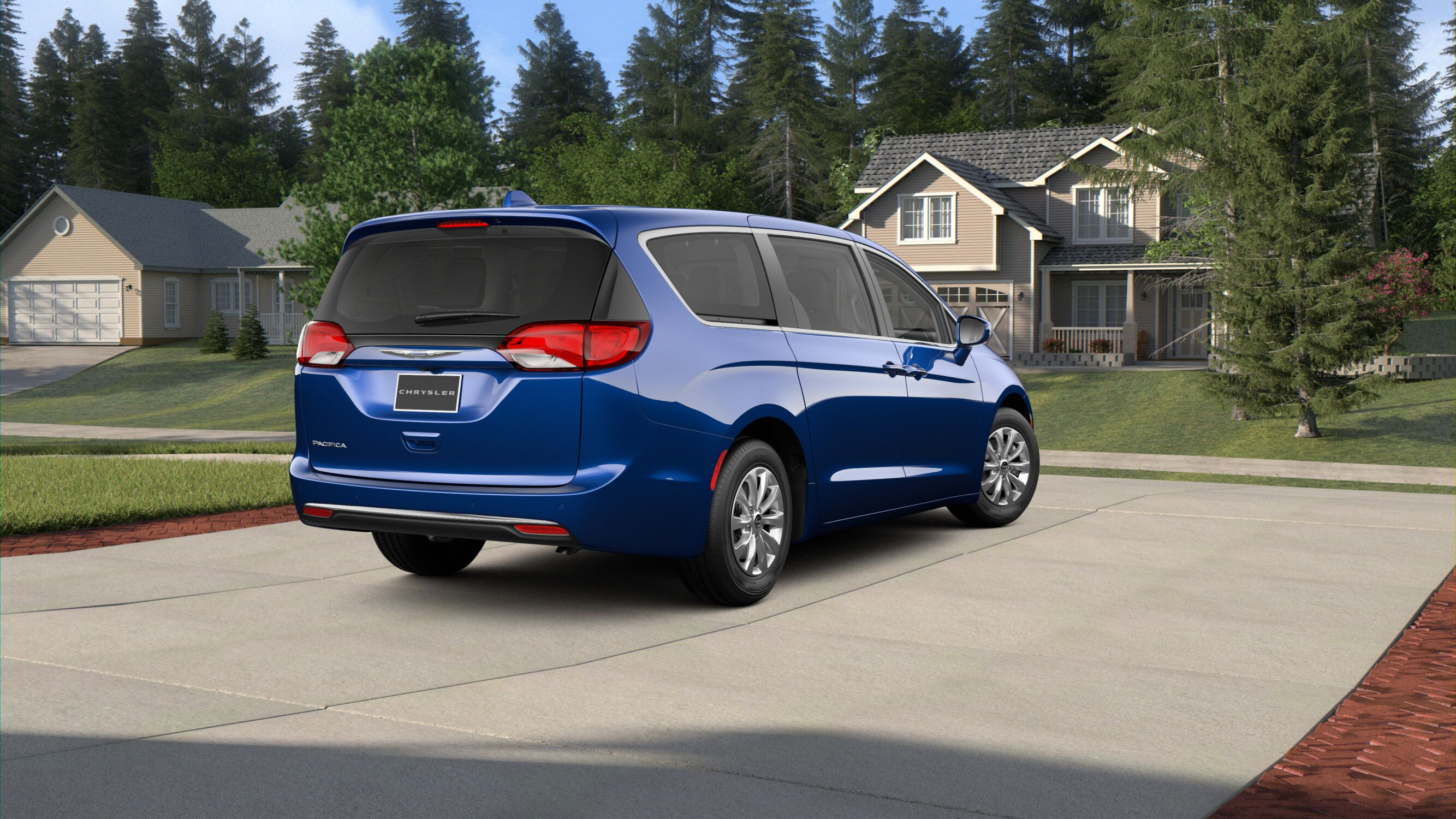 2019 Chrysler Pacifica Touring Plus Ocean Blue Exterior Rear Picture