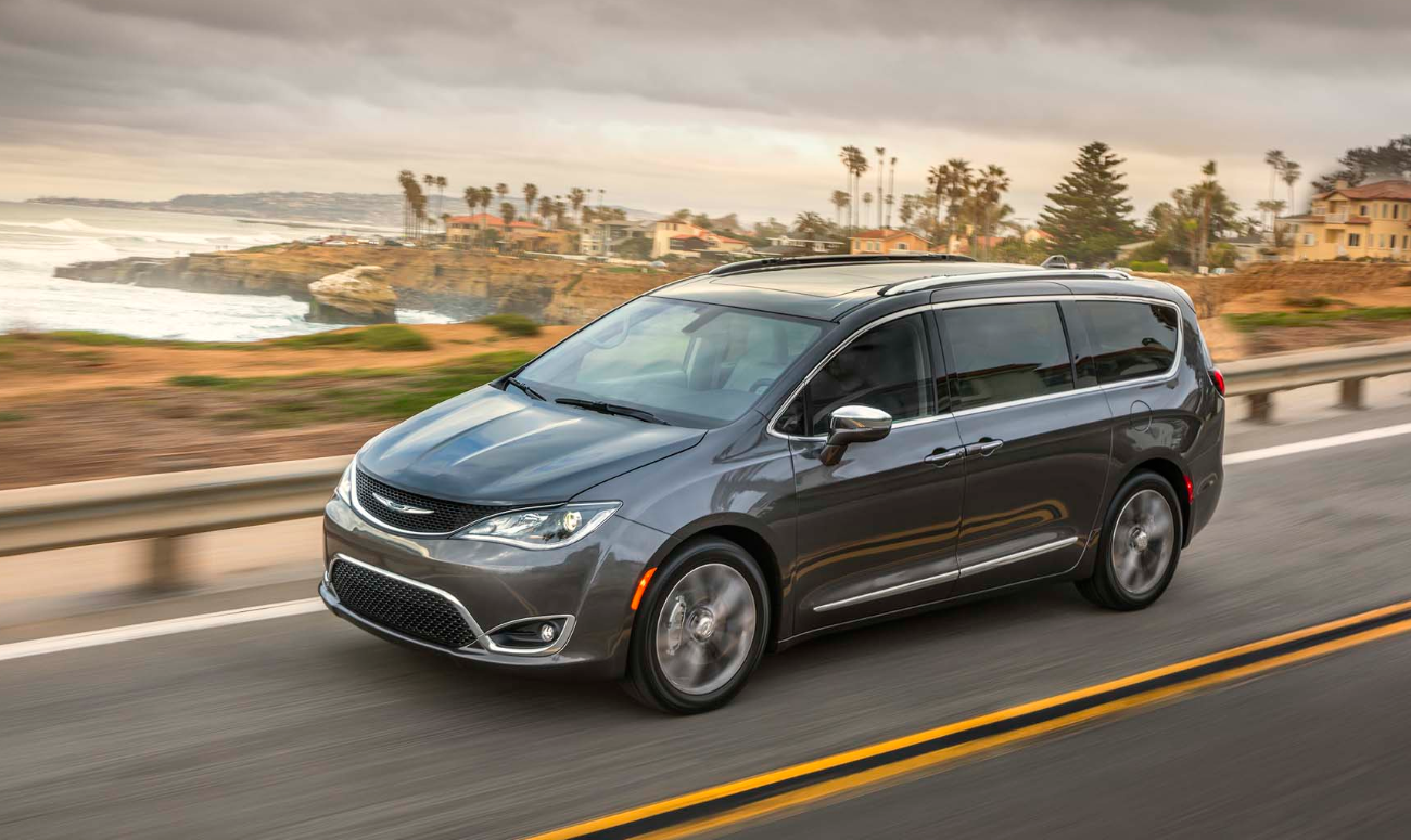 2019 Chrysler Pacifica Gray Exterior Side View