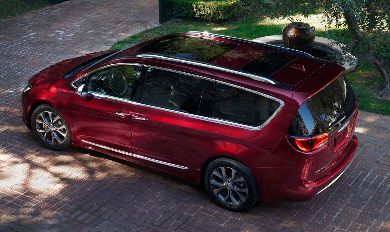 2019 Chrysler Pacifica Red Exterior Top View Picture.png