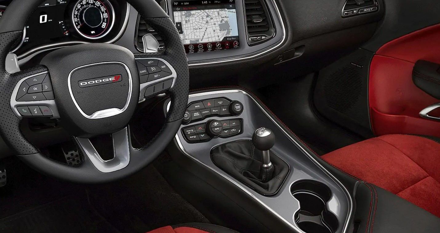 2019 Dodge Challenger Black Interior Detail Picture
