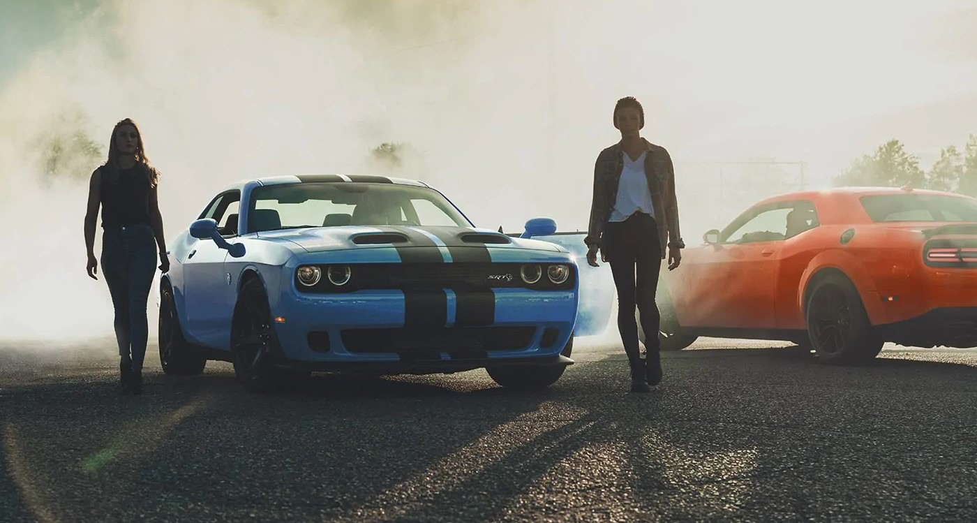 2019 Dodge Challenger Blue and Red Exterior