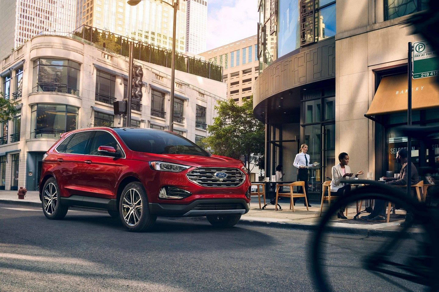2019 Ford Edge Ruby Red Exterior Side Picture