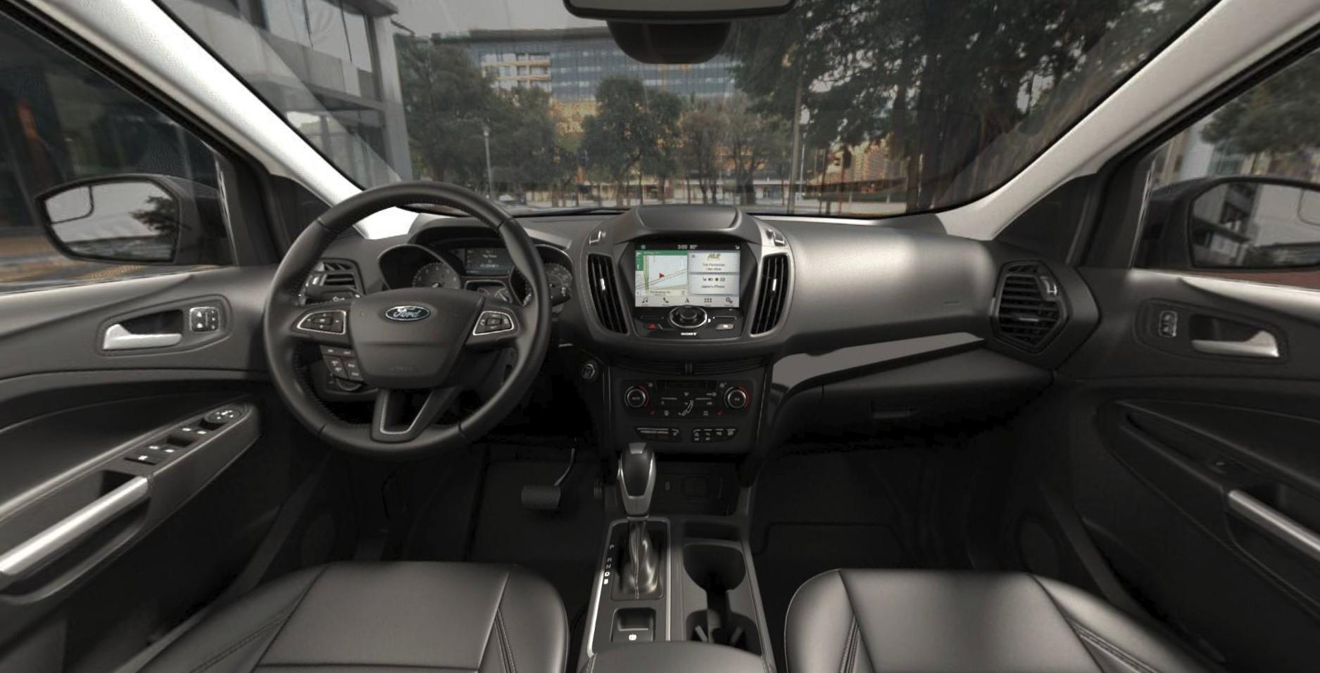 2019 ford escape titanium black interior