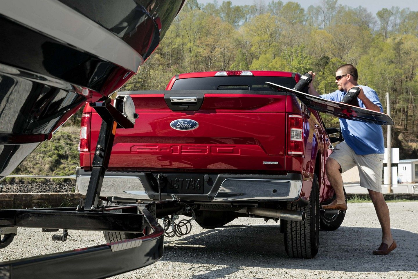 Ford F  Red Exterior Rear View Picture Jpeg