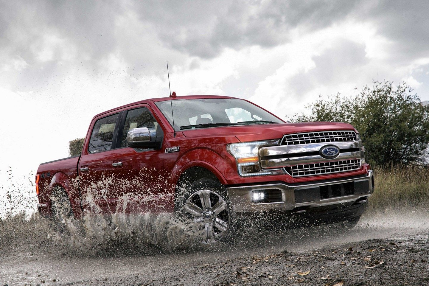 2019 Ford F-150 Red Exterior Side View Off-Road Picture