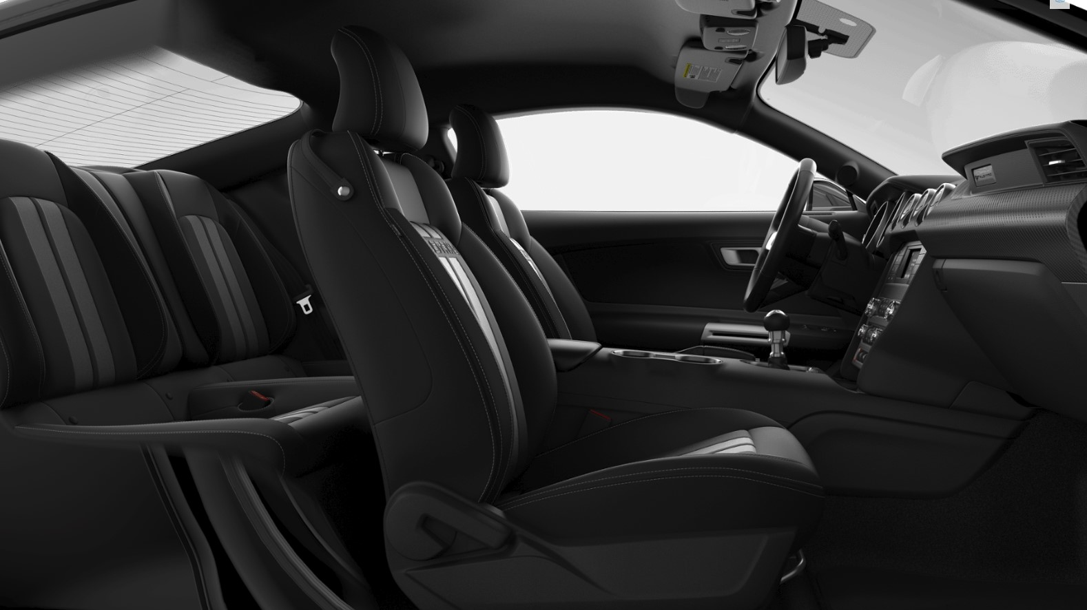 2019 Ford Mustang EcoBoost Black Interior