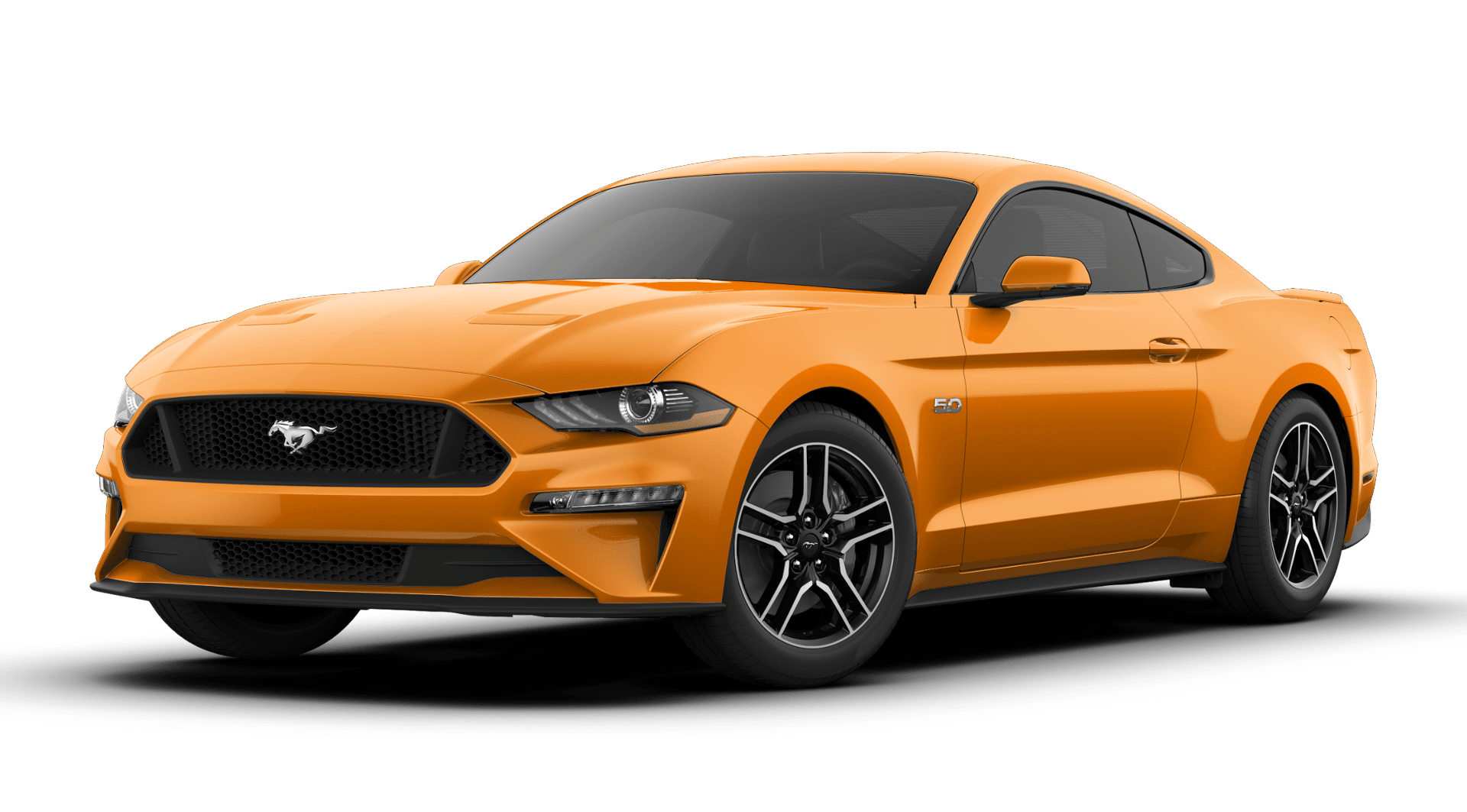 2019 Ford Mustang GT Premium Orange Exterior Front View