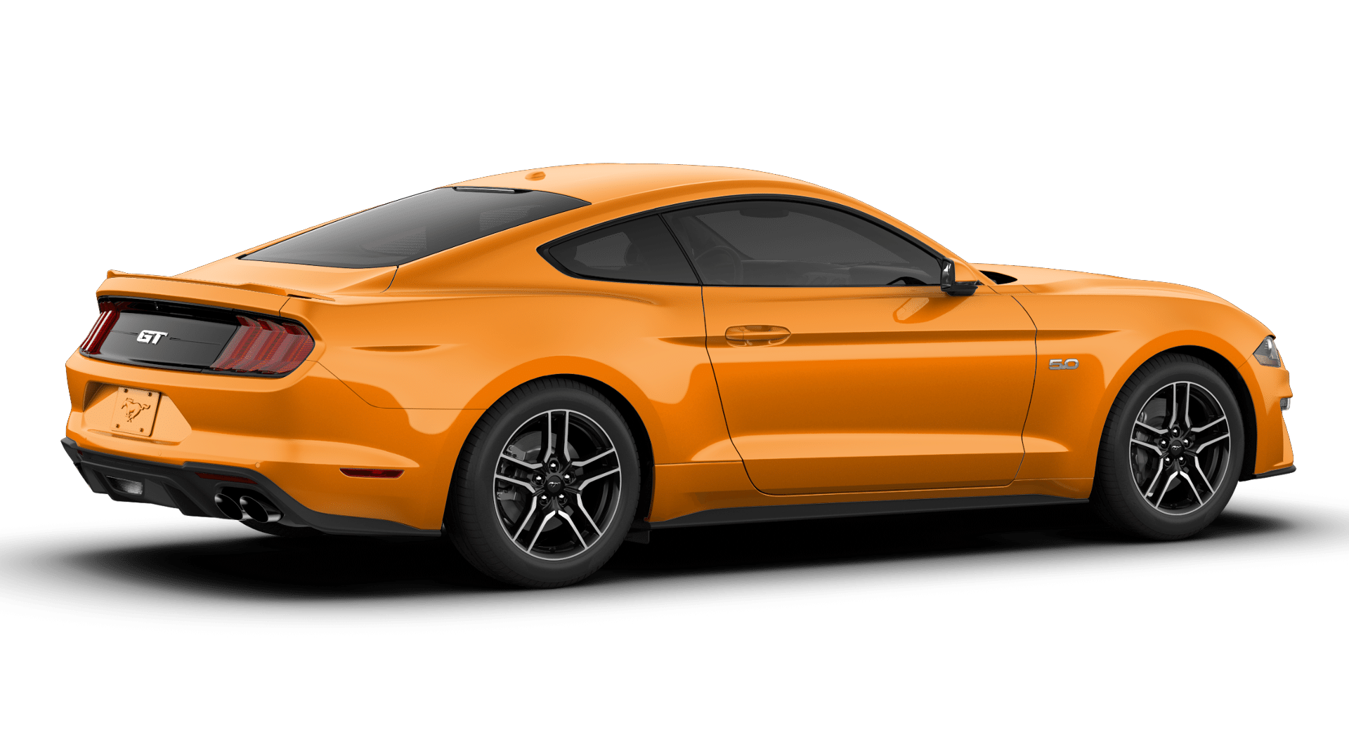 2019 Ford Mustang GT Premium Orange Exterior Side View