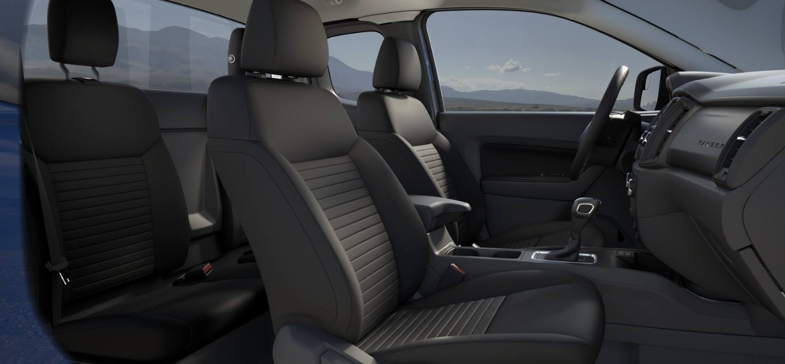 2019 Ford Ranger XL Black Interior