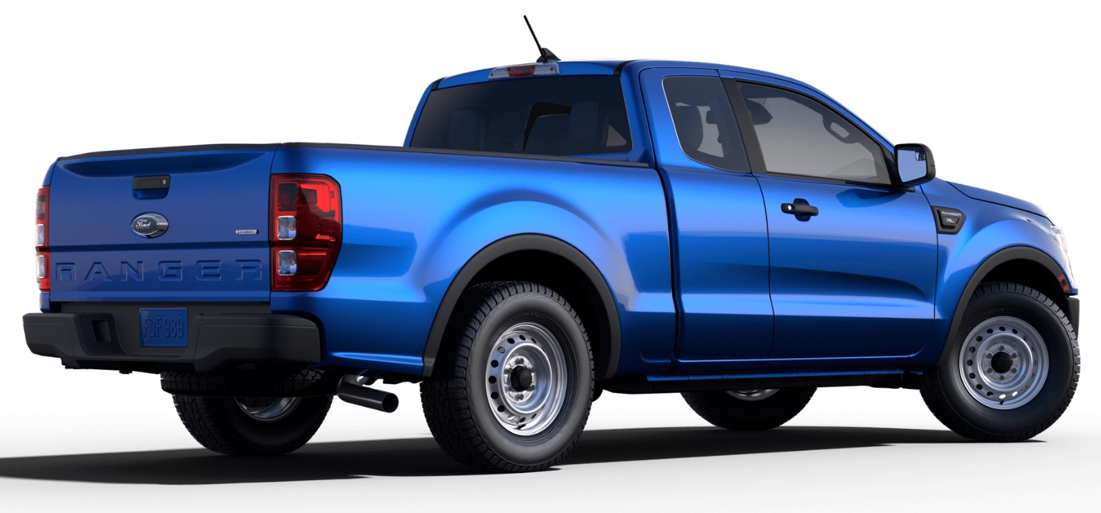 2019 Ford Ranger XL Rear Blue Exterior